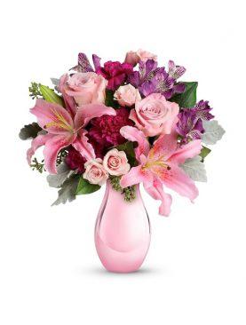 Bouquet Rosa con Flores Mixtas
