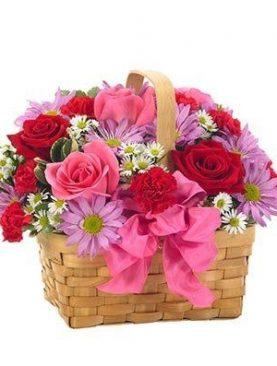 Bouquet Mediano Canasta de Mimbre