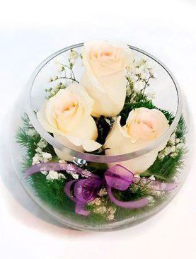 Bouquet Pequeño Base Cristal