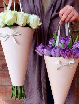 Bouquet de Rosas en Cono