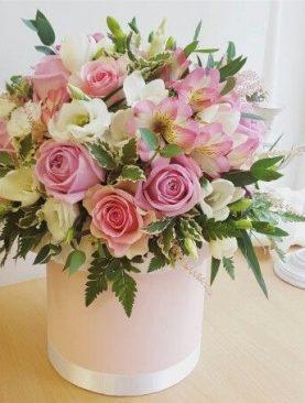 Bouquet Balde Rosa